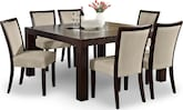 "Dining Room Furniture-Karmon Stone 7 Pc. Dinette (60"" Table)"