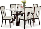 Dining Room Furniture-Vero Paso White 7 Pc. Dinette