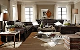 Living Room Furniture-The Carmel Godiva Collection-Carmel Godiva 4 Pc. Sectional