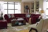 Living Room Furniture-The Brookside II Poppy Collection-Brookside II Poppy 2 Pc. Sectional