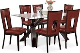 Dining Room Furniture-Vero Paso Red 7 Pc. Dinette