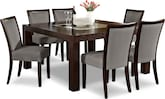 "Dining Room Furniture-Karmon Gray 7 Pc. Dinette (60"" Table)"