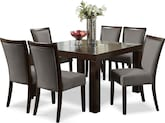 "Dining Room Furniture-Karmon Gray 7 Pc. Dinette (50"" Table)"