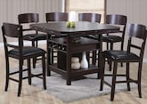 Dining Room Furniture-The Wright Espresso Collection-Wright Espresso 5 Pc. Counter-Height Dinette
