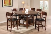 Dining Room Furniture-The Wright Brown Collection-Wright Brown 5 Pc. Counter-Height Dinette