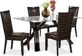 Dining Room Furniture-Vero Costa Brown 5 Pc. Dinette