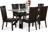 Dining Room Furniture-Vero Costa Brown 7 Pc. Dinette