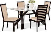 Dining Room Furniture-Vero Costa Camel 5 Pc. Dinette