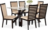 Dining Room Furniture-Vero Costa Camel 7 Pc. Dinette