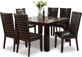 Dining Room Furniture-Karmon Costa Brown 7 Pc. Dinette