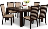 "Dining Room Furniture-Karmon Costa Camel 7 Pc. Dinette (60"" Table)"