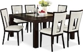 "Dining Room Furniture-Karmon Paso White 7 Pc. Dinette (60"" Table)"