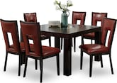 "Dining Room Furniture-Karmon Paso Red 7 Pc. Dinette (50"" Table)"