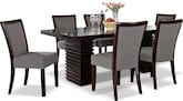 Dining Room Furniture-Costa Karmon Gray 7 Pc. Dining Room