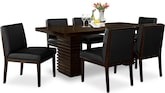 Dining Room Furniture-Costa Reese Black 7 Pc. Dining Room