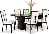 Dining Room Furniture-Costa Paso White 7 Pc. Dinette