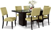 Dining Room Furniture-Costa Keefe Kiwi 7 Pc. Dinette