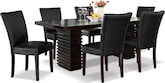 Dining Room Furniture-Costa Vero Black 7 Pc. Dinette