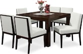 "Dining Room Furniture-Karmon Reese White 7 Pc. Dinette (50"" Table)"