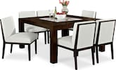 "Dining Room Furniture-Karmon Reese White 7 Pc. Dinette (60"" Table)"