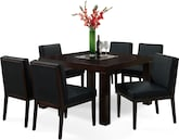 "Dining Room Furniture-Karmon Reese Black 7 Pc. Dinette (50"" Table)"