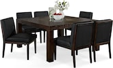 "Dining Room Furniture-Karmon Reese Black 7 Pc. Dinette (60"" Table)"