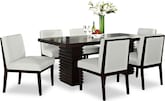 Dining Room Furniture-Costa Reese White 7 Pc. Dining Room
