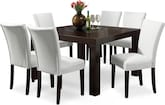 "Dining Room Furniture-Karmon Vero White 7 Pc. Dinette (50"" Table)"