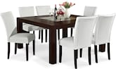"Dining Room Furniture-Karmon Vero White 7 Pc. Dinette (60"" Table)"