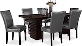 Dining Room Furniture-Costa Vero Gray 7 Pc. Dining Room