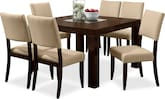 "Dining Room Furniture-Karmon Keefe Beige 7 Pc. Dinette (50"" Table)"
