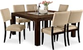 "Dining Room Furniture-Karmon Keefe Beige 7 Pc. Dinette (60"" Table)"