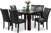 "Dining Room Furniture-Karmon Vero Gray 7 Pc. Dinette (50"" Table)"