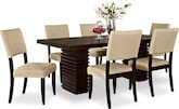 Dining Room Furniture-Costa Keefe Beige 7 Pc. Dining Room
