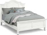 Bedroom Furniture-Magnolia White Queen Bed