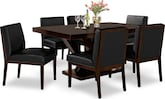 Dining Room Furniture-Reese Black 7 Pc. Dining Room