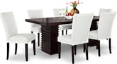 Dining Room Furniture-Costa Vero White 7 Pc. Dining Room