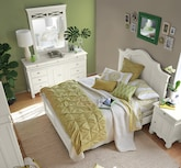 Bedroom Furniture-The Magnolia White Collection-Magnolia White Queen Bed