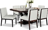 Dining Room Furniture-Reese White 7 Pc. Dinette