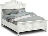 Bedroom Furniture-Magnolia White Storage Queen Storage Bed