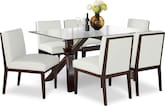 Dining Room Furniture-Vero Reese White 7 Pc. Dinette