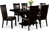Dining Room Furniture-Reese Costa Brown 7 Pc. Dining Room