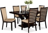 Dining Room Furniture-Reese Costa Camel 7 Pc. Dining Room