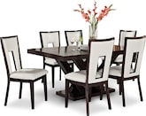 Dining Room Furniture-Reese Paso White 7 Pc. Dining Room