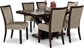 Dining Room Furniture-Reese Karmon Stone 7 Pc. Dining Room
