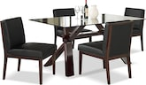 Dining Room Furniture-Vero Reese Black 5 Pc. Dinette