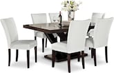 Dining Room Furniture-Reese Vero White 7 Pc. Dining Room