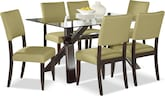 Dining Room Furniture-Vero Keefe Kiwi 7 Pc. Dinette