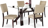 Dining Room Furniture-Vero Keefe Beige 5 Pc. Dinette
