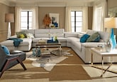Living Room Furniture-The Carmel Cream Collection-Carmel Cream 4 Pc. Sectional